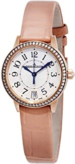 Jaeger LeCoultre Rendezvous 18kt Pink Gold Silver Dial Cream Leather Ladies Watch Q3512520