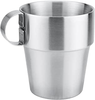 FITYLE 300ml Stainless Steel Mug for Camping Unbreakable Coffee Beer Cups BPA Free,Tumblers Perfect for Picnics - Handle