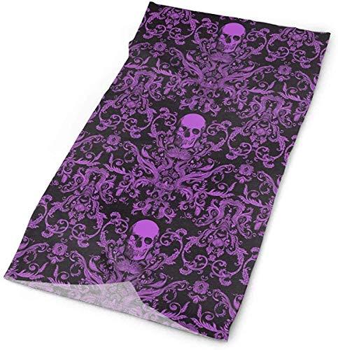 Lsjuee Macabre Dread Da Livid Purple Variety Turban Multifuncional Cara completa A prueba de polvo Protector solar Absorción de sudor Respiración