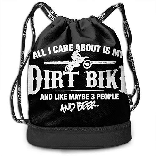 Petrichor Yi alles wat mij interesseert, is mijn Dirt Bike Bundle rugzak mode make-up tas