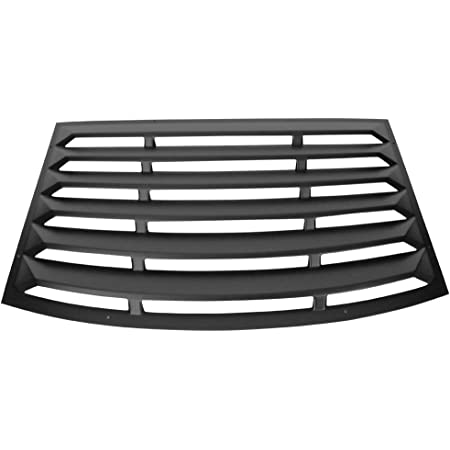 Window Louver Compatible With 2010-2015 Chevy Camaro, Unpainted Black PUR Rear Window Scoop Louver Sun Shade Cover Rain Guard by IKON MOTORSPORTS, 2011 2012 2013 2014