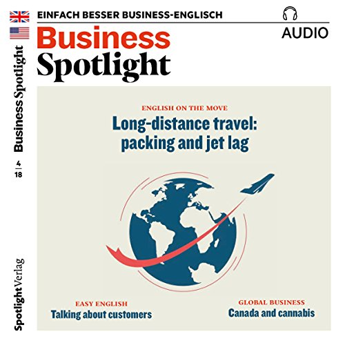 Business Spotlight Audio - Long distance travel. 4/2018 Titelbild