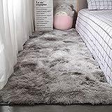 HYMY Fluffy Faux Schaffell Teppich Deco Fell Schlafzimmer Matten Teppich Sofakissen Soft Touch...