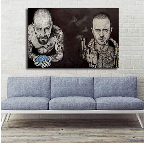 Breaking Bad Quote Minimalist Art Canvas Poster Print Abstract Painting Black White Wall Picture Modern Home Decoration Abstract-50x75cm Sin marco