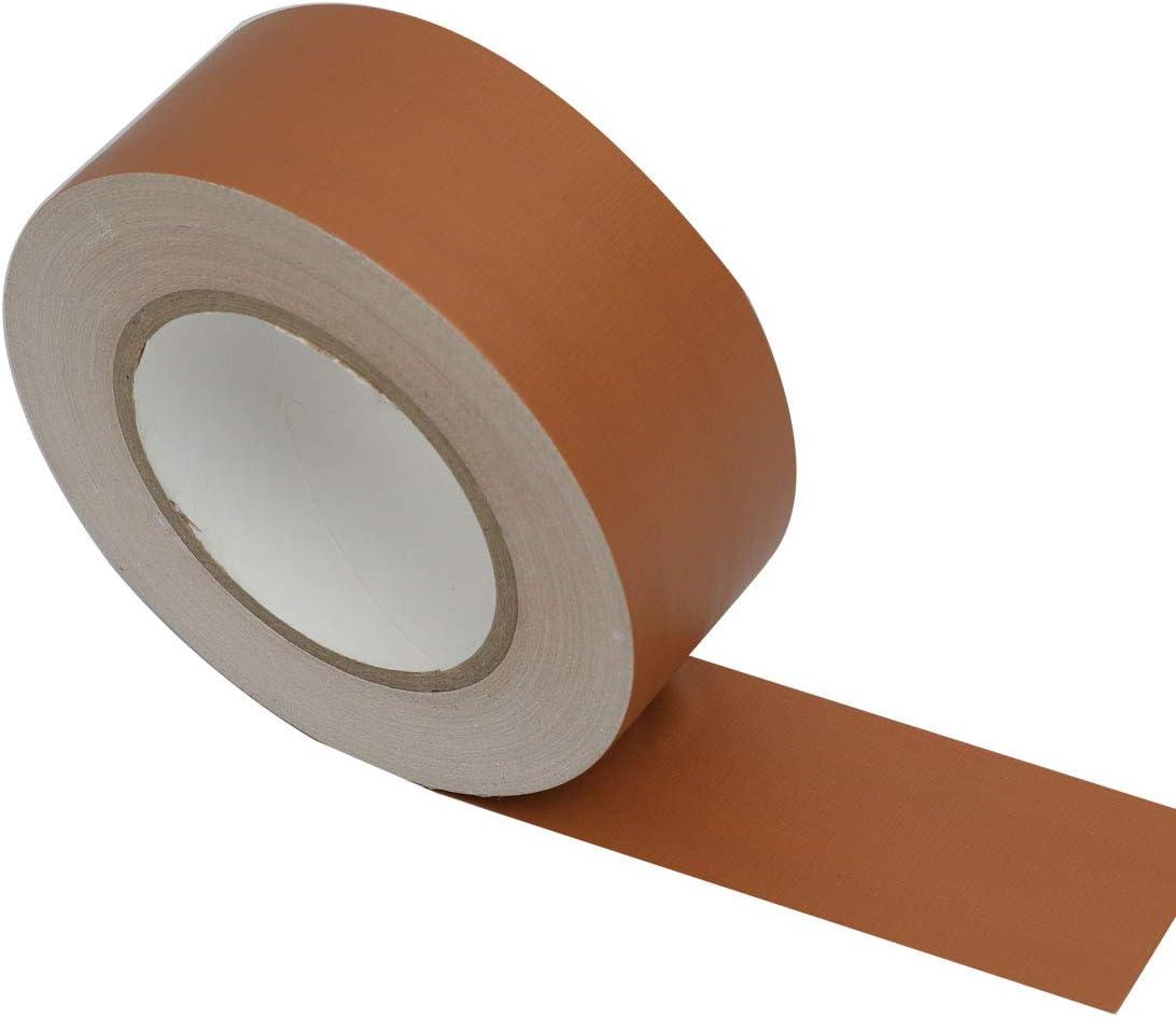 50 mm x 41 m 7.5 mm de espesor pa/ño impermeable para conductos cinta de color marr/ón WELSTIK- Cinta adhesiva de grado profesional