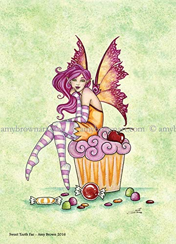 Pacific Giftware PT Amy Brown Art Original Collection Sweet Tooth FAE Resin Collectible Figurine