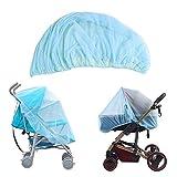 *Mosquitera per a cotxet de bebè, amb elasticitat, bona circulació de l'aire, protecció ideal contra vespes, mosquits, mosquits gràcies a la seva fina teixit de xarxa, 1 peça blava clar