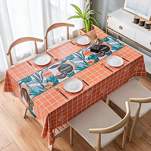 XXDD Impresión de Mantel de Cocina para el hogar a Prueba de Aceite, Mesa Rectangular de protección, Cubierta de Mesa Impermeable de plástico A3, 140x180cm
