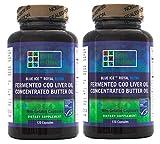 Blue Ice Royal Butter Oil / Fermented Cod Liver Oil Blend (240 Capsules) '2 bottles of 120 capsules'