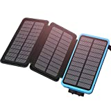 Solar Charger 24000mAh Portable Charger, ADDTOP Waterproof Power Bank External Battery Pack for iPhone, iPad, Samsung Galaxy and More