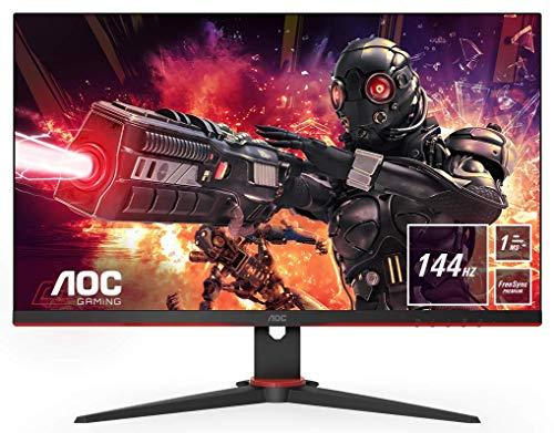 AOC Gaming 24G2AE 60 cm (23,8 Zoll) Monitor (FHD, HDMI, DisplayPort, Free-Sync, 1ms Reaktionszeit, 144 Hz, 1920x1080) schwarz/rot