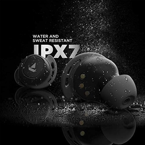 boAt Airdopes 441 TWS Ear-Buds with IWP Technology, Immersive Audio, Up to 30H Total Playback, IPX7 Water Resistance, Super Touch Controls, Secure Sports Fit & Type-C Port(Active Black)