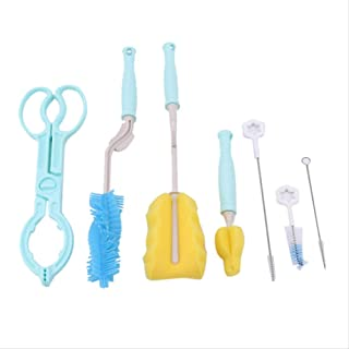 Bottle Brush Sponge Plastic Glass Milk Water Cup Cleaning Feeding Bottle Pacifier Brushes Baby Bottle Accessories  blue