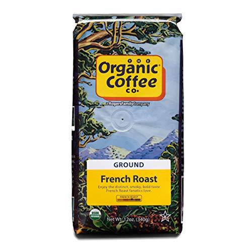 Organic Coffee Co. French Roast Ground Coffee 12 Ounce Dark Roast USDA Organic
