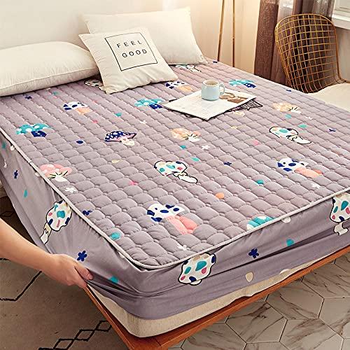 HPPSLT Matratzenschoner |Auflage zum Schutz der Matratze Dickeres Bettlaken einteilig atmungsaktiv-11_150 * 200cm