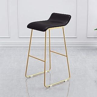Taburete de Bar Bar industrial Taburete Sillas de cocina heces Desayuno sillas de comedor taburetes de oficina Base de cocina Taburetes Pub, de imitación de cuero del asiento y las piernas del metal d