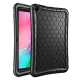 Fintie Silicone Case for Samsung Galaxy Tab A 8.0 2019 Without S Pen Model (SM-T290 Wi-Fi, SM-T295 LTE), Honey Comb Series Kids Friendly Light Weight Shock Proof Protective Cover, Black