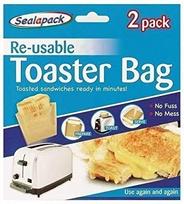 St@llion Reusable Toaster Bags Toastie Sandwich Toast Bags Pockets Non-Stick Toasty for Kitchen Accessories (2 Pcs)
