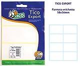 Tico E-5836A. Bolsa de 80 etiquetas