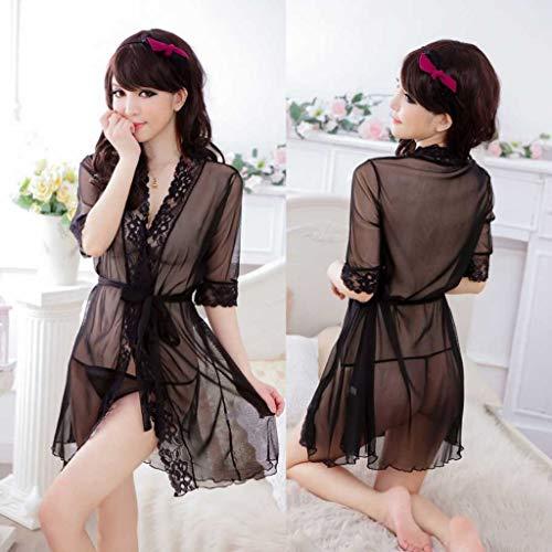Bahucharaji Creation Net Floral Sexy Honeymoon Nightwear Night Dress Baby Doll (Black, Free Size)
