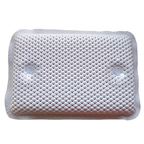 Bath Spa Pillow Cushioned Spongy Relaxing Bathtub Cushion 8 Suction Cups, Home & Garden for Christmas Day (White)