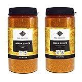 Med Cuisine Salsa Amba - Condimento de Escabeche de Mango Picante - Med Cuisine Amba Salsa De Mango - Condimento Israelí - Vegano Y Sin OGM (2 Paquetes)