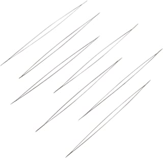 Craftdady 10Pcs Stainless Steel Large Big Eye Collapsible Embroidery Beading Needles Easy Thread Sewing Needles for DIY Jewelry Making 2.24