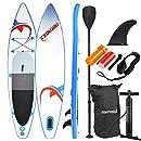 Nemaxx PB335 Stand up Paddle Board 335x74x15cm, blau/rot - SUP, Surfbrett, Surf-Board - aufblasbar & leicht zu transportieren - inkl. Tasche, Paddel, Finne, Luftpumpe, Repair Kit, Fuß-Leine