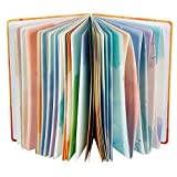 """Siixu Spiral Journals for Women, Hardcover Notebook, Colorful Blank, Large, 128 Pages, B5, 6.8""""x9.8', Summer"""