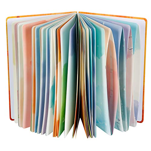 """Siixu Spiral Journals for Writing, Color Illustration Notebook With an Elastic Band, Hardcover, 128 Pages, B5, 6.8""""x9.8"""", Spring"""