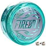 Yomega Fireball - Professional Responsive Transaxle Yoyo, Great for Kids and Beginners to Perform Like Pros + Extra 2 Strings & 3 Month Warranty (Teal / Green)