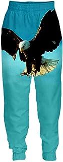Animal Eagle Bird Stampa 3D Harajuku Pantaloni Sportivi da Uomo Pantaloni Lunghi Unisex Streetwear Pantaloni per Adulti Hi...