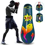 Gojiny Punching Bag, Inflatable Punching Bag for Adult Free Standing Boxing Punching Bag for Exercise Stress Relief