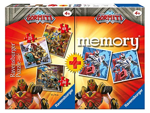 Ravensburger - Multipack Memory+ 3 puzzle Gormiti (20519) , color/modelo surtido