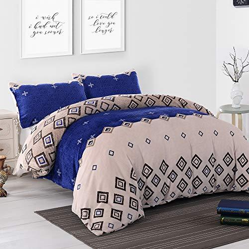 Simple&Opulence Flannel Duvet Cover Set 3pcs Super Soft Warm Winter Bedding...