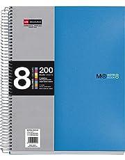 Basicos MR 42005, Cuaderno A5 (8 Colores, 200 Hojas, 5 mm, Tapa de Polipropileno), Azul