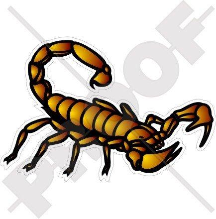 Scorpion Stinger Scorpion Horoscope 149,9 cm (150 mm) en vinyle Bumper Sticker, autocollant