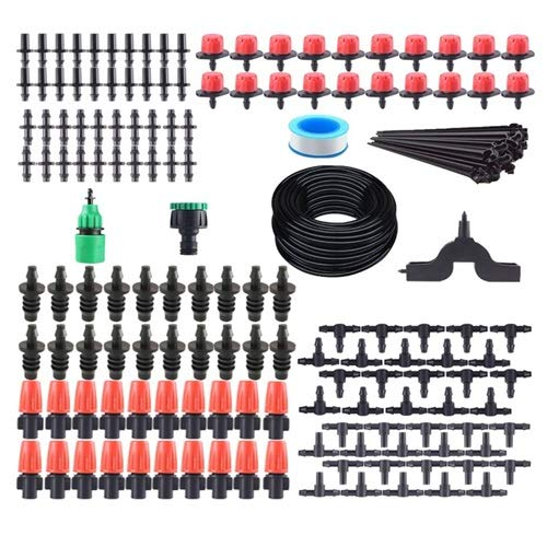 XiaoG Automatic Garden Watering,Adjustable Drip Irrigation System,Micro Drop Saving Watering Irrigation Tool Kits 165pcs (Color : 1)