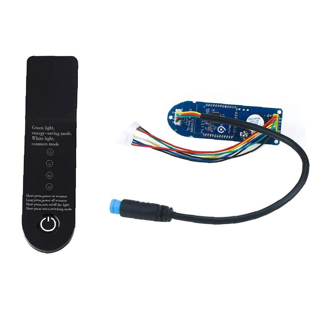 M365 Panel de aves Bluetooth Dashboard Tablero de circuito para Xiaomi M365 Scooter eléctrico Scooter Pieza Módulo de reemplazo Parte Pájaro Panel Negro