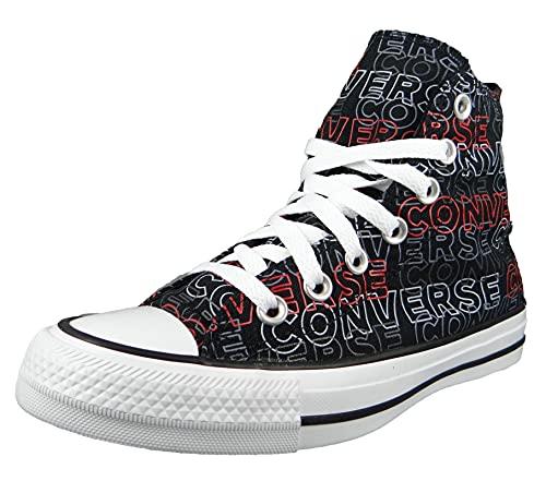 Converse Zapatillas deportivas para hombre Chuck Taylor All Star Wordmark Print HI 170108C, color negro, color Negro, talla 39 EU