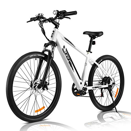 """27.5"""" Electric Bike for Adults,36/48V Electric Bicycle/Mountain Ebike/Commuter Electric Bike 350W with Removable Lithium Battery,Professional 21 Speed Gears,Fat Tire Electric Bike for Women& Men"""
