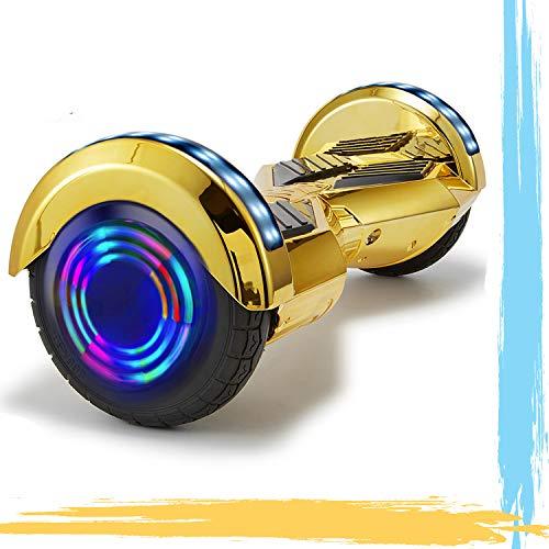 """HappyBoard 8"""" Hoverboard Patinetes Eléctricos Autoburación Motor 700W Bluetooth para Niños y Adultos (Plata)"""