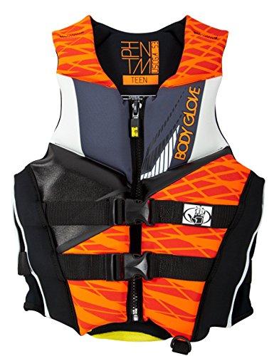 Body Glove Wetsuit Co Men's Phantom Neoprene US Coast Guard Approved PFD Life Jacket, Orange/Black, X-Large