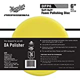 Meguiar's 6' DA Foam Polishing Disc – Dual Action Polishing Pad Enhances High Gloss – DFP6