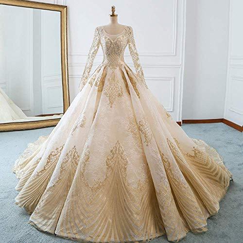 Kleid Hochzeitskleid ein Rock Hochzeitskleid Zwei Champagner Brautkleid Dünn Große Traumbraut Schleppendes Hochzeitskleid Formal/Íïβ¿Î/Xxxl, L-F, Æëµø¿î, L