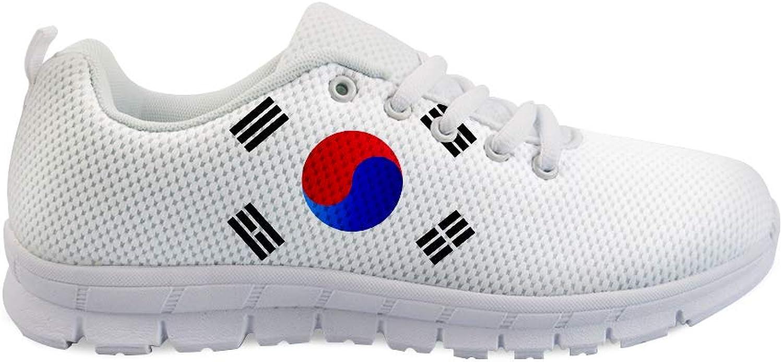 Owaheson Lace-up Sneaker Training shoes Mens Womens Korea Flag