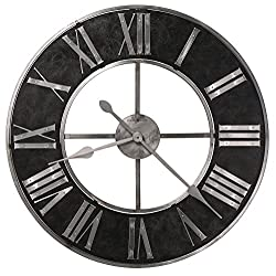 Howard Miller Dearborn Wall Clock 625-573 – Oversized Steel Frame with Quartz Movement