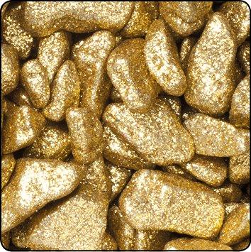 Season Dekosteine Glitter 9-13 mm, 1 kg Beutel (gelbgold)