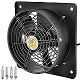 Mophorn Ventilación Extractor de Marco Cuadrado AXIAL de 10 Pulgadas 65W Motor Cuadrupolar de Cobre Puro Velocidad de 1450 rpm para Proyectos de Ventilación de Refrigeración