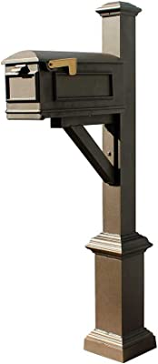 Qualarc Lewiston Cast Aluminum Post Mount Mailbox System With Post Aluminum Mailbox Fluted Base And Ball Finial White Ships In 2 Boxes Home Improvement